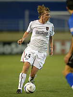 8 May 2004:  MetroStars Eddie Gaven in action against Earthquakes at Spartan Stadium in San Jose, California.  Earthquakes and MetroStars are tied at 5-5..Mandatory Credit: Michael Pimentel/ISI