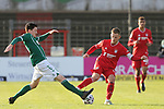 22.11.2020, Dietmar-Scholze-Stadion an der Lohmuehle, Luebeck, GER, 3. Liga, VfB Luebeck vs FC Bayern Muenchen II <br /> <br /> im Bild / picture shows <br /> Sven Mende (VfB Luebeck) im Zweikampf gegen Timo Kern (FC Bayern Muenchen II) <br /> <br /> DFB REGULATIONS PROHIBIT ANY USE OF PHOTOGRAPHS AS IMAGE SEQUENCES AND/OR QUASI-VIDEO.<br /> <br /> Foto © nordphoto / Tauchnitz