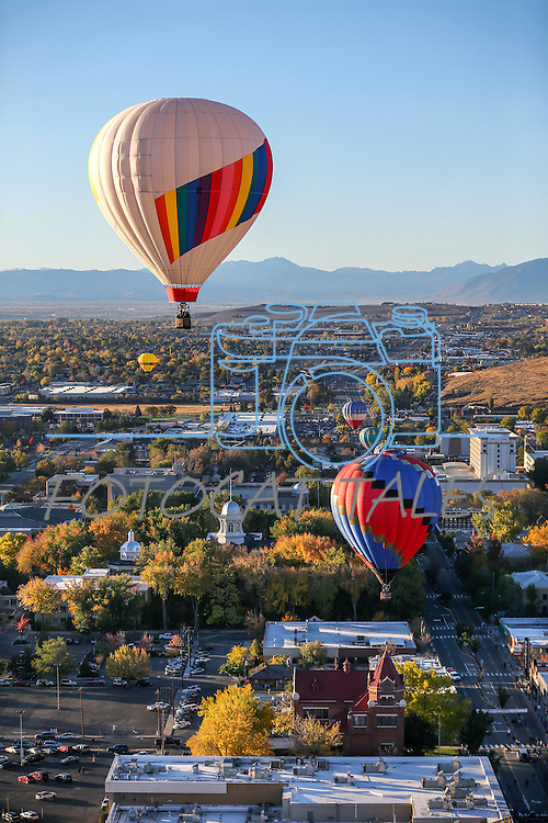 Balloons launch over downtown Carson City, Nev., on Saturday, Oct. 31, 2015. <br /> Photo by Cathleen Allison/Nevada Photo Source