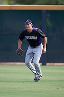 Colorado Rockies Sam Hilliard (78) during practice before an instructional league game against the SK Wyverns on October 10, 2015 at the Salt River Fields at Talking Stick in Scottsdale, Arizona.  (Mike Janes/Four Seam Images)