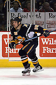 February 17th 2007:  Nathan Paetsch (38) of the Buffalo Sabres skates up ice vs. the Boston Bruins at HSBC Arena in Buffalo, NY.  The Bruins defeated the Sabres 4-3 in a shootout.