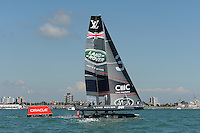 Land Rover BAR, JULY 23, 2016 - Sailing: Land Rover BAR in action during day one of the Louis Vuitton America's Cup World Series racing, Portsmouth, United Kingdom. (Photo by Rob Munro/Stewart Communications)