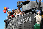 Participants in the annual Nevada Day Parade ride on the USS NEVADA float in Carson City, Nev., on Saturday, October 28, 2017. <br /> Photo by Lance Iversen/Nevada Momentum