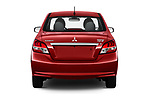 Straight rear view of 2020 Mitsubishi Mirage-G4 SE 4 Door Sedan Rear View  stock images