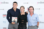 "The actress Elsa Pataky, Alex Gonzalez and Fernando Sartorius attend the presentation of the book ""Intensidad MAX"" at the roof of the Hotel ME in Madrid, Spain. Jun 4, 2014. (ALTERPHOTOS/Carlos Dafonte)"