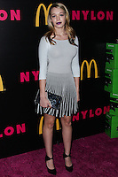 WEST HOLLYWOOD, CA - DECEMBER 05: Sadie Calvano arriving at the Nylon Magazine December 2013/January 2014 Cover Launch Party held at Quixote Studios on December 5, 2013 in West Hollywood, California. (Photo by Xavier Collin/Celebrity Monitor)