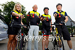Members of the Tralee Chain Gang Cyling club display their new on bike cameras. L to r: Avril Hewitt, Pat Keoghan, Declan Murphy and Dave Elton.