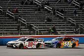 #20: Erik Jones, Joe Gibbs Racing, Toyota Camry Sport Clips, #53: J.J. Yeley, Rick Ware Racing, Ford Mustang Factor One Source Pharmacy