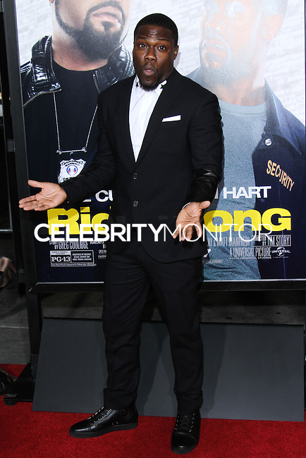 """HOLLYWOOD, CA - JANUARY 13: Kevin Hart at the Los Angeles Premiere Of Universal Pictures' """"Ride Along"""" held at the TCL Chinese Theatre on January 13, 2014 in Hollywood, California. (Photo by David Acosta/Celebrity Monitor)"""