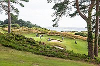 BNPS.co.uk (01202 558833)<br /> Pic: MaxWillcock/BNPS<br /> Date taken: 28/07/2021<br /> <br /> Pictured: Parkstone Golf Club in Lilliput, Dorset on Bingham Avenue. The Rolex Rippers stole a watch on Bingham Avenue.<br /> <br /> The 'Rolex Rippers' are believed to have struck 23 times in southern England, especially in Dorset and Hampshire.<br /> <br /> The serial watch thieves target elderly men for their expensive watches in affluent areas and close to exclusive golf clubs.