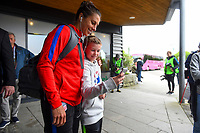 Sandefjord, Norway - June 11, 2017: Carli Lloyd and USA supporters prior to their game versus Norway in an international friendly at Komplett Arena.