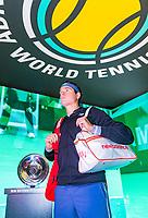 Rotterdam, The Netherlands, 12 Februari 2019, ABNAMRO World Tennis Tournament, Ahoy, first round singles: Milos Raonic (CAN)<br /> Photo: www.tennisimages.com/Henk Koster