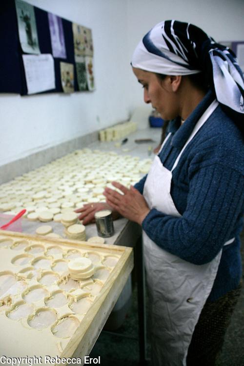 Making olive oil soaps in Mardin, southeastern Turkey