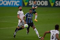 14th November 2020; Arena de Gremio, Porto Alegre, Brazil; Brazilian Serie A, Gremio versus Ceara; Jean Pyerre of Gremio breaks from Ricardinho of Ceara