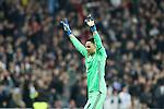 Real Madrid's Keylor Navas celebrates goal during Champions League 2016/2017 Round of 16 1st leg match. February 15,2017. (ALTERPHOTOS/Acero)