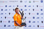 Yuki Kamasu of Japan celebrates after winning the 9th Faldo Series Asia Grand Final 2014 golf tournament on March 20, 2015 at Faldo course in Mid Valley Golf Club in Shenzhen, China. Photo by Xaume Olleros / Power Sport Images