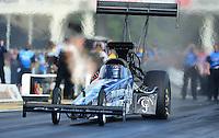 May 4, 2012; Commerce, GA, USA: NHRA top fuel dragster driver J.R. Todd during qualifying for the Southern Nationals at Atlanta Dragway. Mandatory Credit: Mark J. Rebilas-