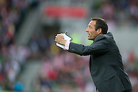MELBOURNE, AUSTRALIA - DECEMBER 11: John van't Schip of the Heart signals to his players during the round 18 A-League match between the Melbourne Heart and Melbourne Victory at AAMI Park on December 11, 2010 in Melbourne, Australia. (Photo by Sydney Low / Asterisk Images)