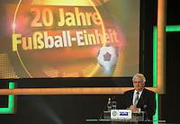 Jubiläumsgala 20 JAHRE FUSSBALL EINHEIT - Congresscenter Leipzig - DFB  - im Bild: DFB Präsident Dr. Theo Zwanziger .Foto: Norman Rembarz .