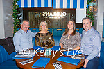 Padraig and Margaret Brosnan with Ciara and Kieran Herlihy all Killarney enjoying a meal in the Mad Monk restaurant Killarney on Monday night