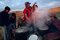 People at Yawar Fiesta celebrations in their community in the Peruvian Andes.