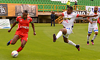 TUNJA -COLOMBIA, 30-07-2017. Acción de juego entre los equipos  Patriotas FC y el Deportivo Pasto  durante encuentro  por la fecha 5 de la Liga Aguila II 2017 disputado en el estadio de  La Independencia./ Action game between  of  Patriotas FC and   Deprtivo Pasto  during match for the date 5 of the Aguila League II 2017 played at La Independencia  stadium . Photo:VizzorImage / Jose Miguel Palencia / Cont