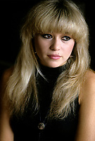 """Montreal (Qc) CANADA - File Photo - Circa 1986- EXCLUSIVE PHOTO -<br /> Elizabeth (E.G.) Daily pose during an interview in her Montreal hotel room.<br /> <br /> She was a popular singer in the eighties ;<br /> her single """"Say It, Say It"""". claimed the #1 spot on the Hot Dance Music/Club Play chart.<br /> <br /> Her songs were often featured in movies and videogames. She has few movie roles including playing Hilton's mother in National Lampoon's Pledge This!.<br /> <br /> Daily was married to Rick Salomon from 1995 N 2000. They have two daughters, Hunter (b. 1996) and Tyson (b. 1998). She dated among others; Jon-Erik Hexum, George Clooney, Nicolas Cage, Kato Kaelin, and Andrew """"Dice"""" Clay<br /> <br /> <br /> -Photo (c)  Images Distribution"""