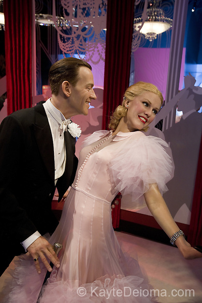 Wax figures of Fred Astaire and Ginger Rogers at Madame Tussauds Hollywood, Los Angeles, CA
