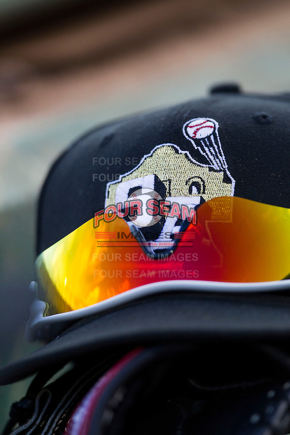 San Antonio Missions hat on August 22, 2013 at the Nelson Wolff Stadium in San Antonio, Texas. Frisco defeated San Antonio 2-1. (Andrew Woolley/Four Seam Images)