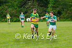 Ronan Collins Gneeveguilla bursts past Peader Keane Listry during their League game in Listry on Sunday