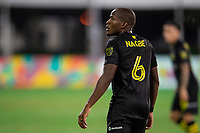 LAKE BUENA VISTA, FL - JULY 16: Darlington Nagbe #6 of the Columbus Crew SC looks on during a game between New York Red Bulls and Columbus Crew at Wide World of Sports on July 16, 2020 in Lake Buena Vista, Florida.