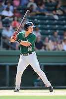 Designated hitter Eric Sim (11) of the Augusta GreenJackets bats in a game against the Greenville Drive on Sunday, July 13, 2014, at Fluor Field at the West End in Greenville, South Carolina. Greenville won, 8-5. (Tom Priddy/Four Seam Images)