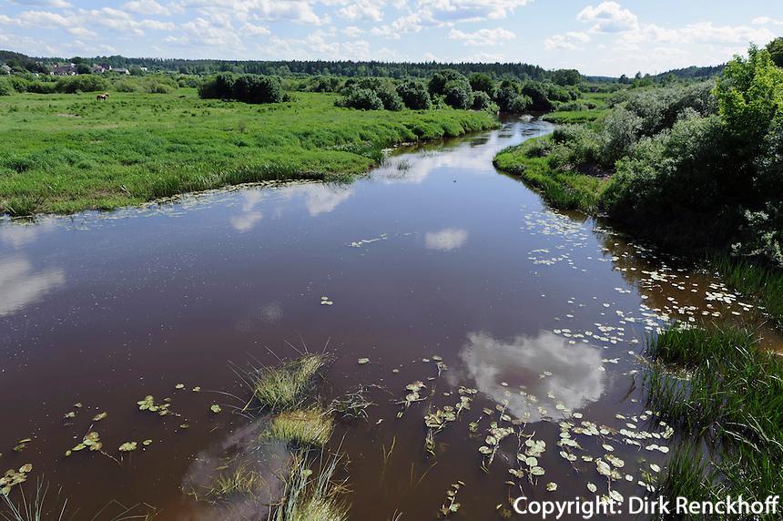 Fluss Abava bei Kandava, Lettland, Europa