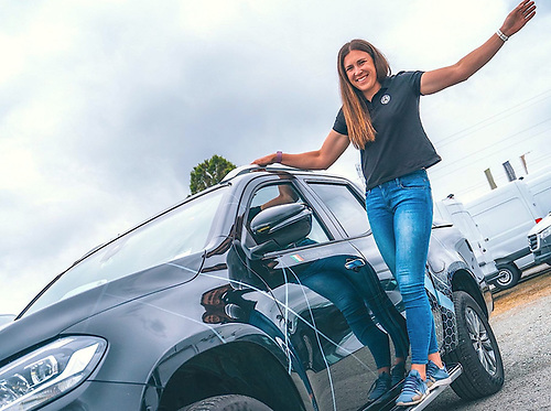 Annalise Murphy and her Mercedes Benz vehicle