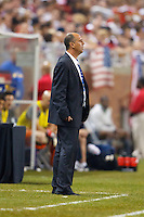7 June 2011: Canada head coach Stephan Hart during the CONCACAF soccer match between USA and Canada at Ford Field Detroit, Michigan. USA won 2-0.