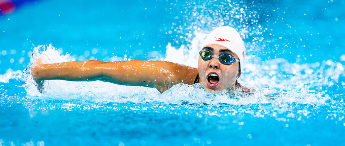 Myriam Soliman, Lima 2019 - Para Swimming // Paranatation.<br /> Myriam Soliman competes in the women's butterfly S6 // Myriam Soliman participe au papillon féminin S6. 26/08/2019.