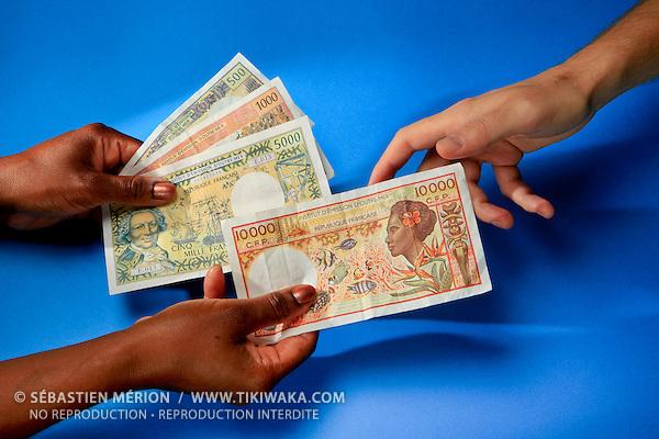 Billets de banque Francs Pacifique (CFP) utilisés en Nouvelle-Calédonie, Wallis et Futuna et Polynésie Française