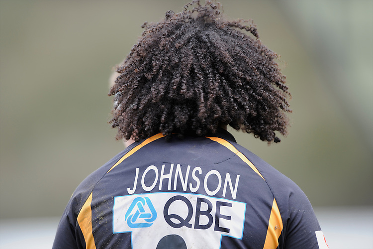 Ashley Johnson of London Wasps during the Aviva Premiership match between London Wasps and Exeter Chiefs at Adams Park on Sunday 21st April 2013 (Photo by Rob Munro)
