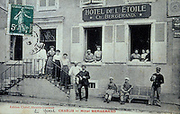 Europe/France/89/Yonne/AOC Chablis: Carte postale ancienne Hotel de l'Etoile, Bergerand
