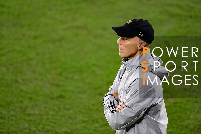 Head Coach Bob Bradley of Los Angeles FC (USA) watches his team in action against Club America (MEX) during their CONCACAF Champions League Semi Finals match at the Orlando's Exploria Stadium on 19 December 2020, in Florida, USA. Photo by Victor Fraile / Power Sport Images