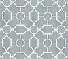 Chatham 1, a waterjet stone mosaic, shown in honed Bardiglio and polished Thassos, is part of the Silk Road® collection by New Ravenna.