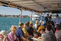 Ft. Lauderdale, Florida.  Water Taxi and Passengers Meeting the Carrie B on the Intracoastal Waterway.