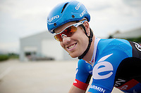 Tyler Farrar (USA) in good spirits<br /> <br /> Eneco Tour 2013<br /> stage 1: Koksijde - Ardooie (175km)