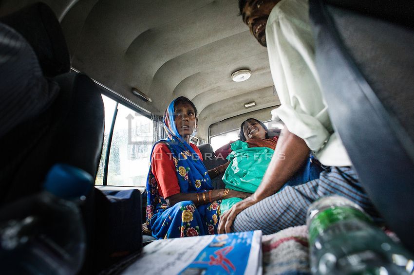 Pregnant woman was picked up by our car, while being transported from her home to the hospital by bicycle - total way about 30km.