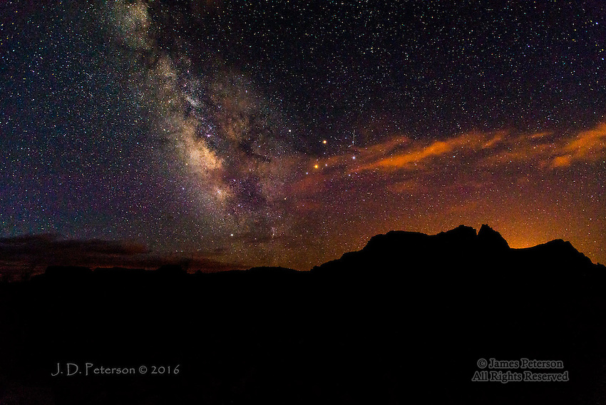 Milky Way over Boundary Butte, Lake Powell