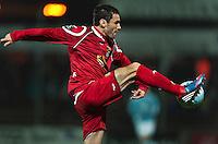 Football: Denmark, Superliga, FC Nordsjaelland.Michael Parkhurst.?Ǭ© pixathlon *** Local Caption *** DEN out !