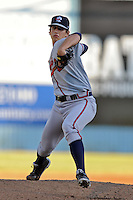 Rome Braves starting pitcher Lucas Sims #26 delivers a pitch during his first start of the season against the Asheville Tourists at McCormick Field on May 24, 2013 in Asheville, North Carolina. The Tourists won the game 6-0. (Tony Farlow/Four Seam Images).