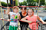 Lorraine Gibney with little  Gearoid and Masie Somers enjoying the afternoon in the playground in Listowel on Monday.