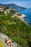 Italien, Kampanien, Pogerola oberhalb Amalfi: Hotel Excelsior mit Blick auf Amalfi | Italy, Campania, Pogerola above Amalfi: Hotel Excelsior view towards Amalfi