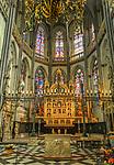 Deutschland, Nordrhein-Westfalen, Xanten: ehemalige Stiftskirche St. Viktor (Xantener Dom) - Hochaltar | Germany, Northrhine-Westphalia, Xanten: Xanten cathedral - high altar